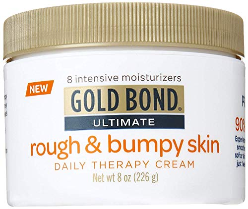 Gold Bond Ultimate Rough & Bumpy Daily Skin Therapy, 8 Ounce, Helps Exfoliate and Moisturize to Smooth, Soften, and Reduce the Appearance and Feel of Bumps and Rough Skin Patches (Packaging may vary)