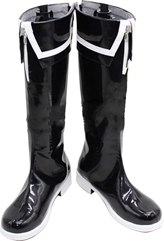 Whirl Cosplay Boots Shoes Very popular Safety and trust for Shooter Rock Black Shoo
