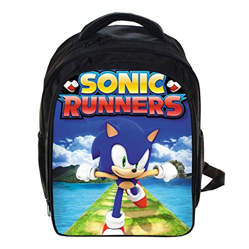 MIAOGOU Sonic The Hedgehog Lightning Rat Sonic Bag Kindergarten Large, Medium And Small Class Boys And Girls Large-capacity Backpack.