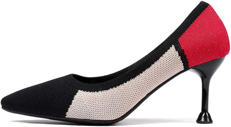 Yudesun Pointed Toe Women Pumps - Ladies Slip-Ons Mixed colors High Heel Stilettos Court shoes