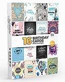 Joy Masters™ Biglietti d'Auguri di Buon Compleanno Assortiti con Busta Divertenti – Confezione da 16 Pezzi - Vol. 4