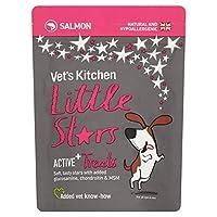 [Vet's Kitchen ] 獣医の台所小さな星の犬はアクティブ+鮭85グラムを扱います - Vet's Kitchen Little Stars Dog Treats Active + Salmon 85g [並行輸入品]