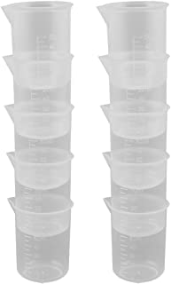 Uxcell a15110200ux0194 Plastic Capacity Measuring Cup Beaker Laboratory Set 50ml 10 Pcs Clear (Pack of 10)