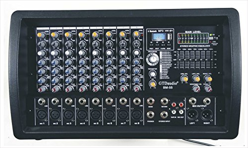 GTD-Audio 8 Channel 4000Watt Professional Powered Mixer Amplifier (1000 Watt RMS)