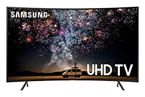 Samsung UN55RU7300FXZA Curved 55-Inch 4K UHD 7 Series Ultra HD Smart TV with HDR and Alexa Compatibility (2019 Model) by Samsung