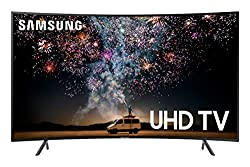 commercial 55 uhd tv Samsung UN55RU7300FXZA Curved 55 inch UltraHD Smart TV 4K UHD 7 Series (with HDR and Alexa) (2019 model)