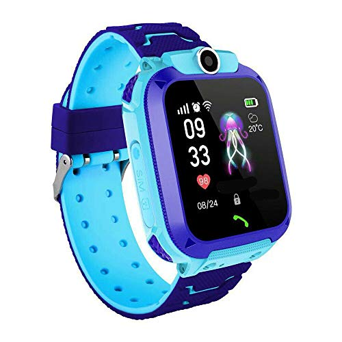 Kinder Armbanduhr Digital Analog Wasserdicht Telefon Uhr Telefonieren SOS Tracker GPS Touchscreen Mobile Smartwatch Telefon Uhr mit SIM Karte Anruf Voice Chat Kamera Mädchen Jungen