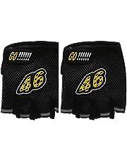 Half Finger Gloves For Unisex - Black
