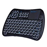 iPazzPort Bluetooth Mini Wireless Keyboard with Touchpad, Backlit, IR Learing for Android TV Box, TV Stick, Nvidia Shield TV, Smart TV KP-810-61 BT
