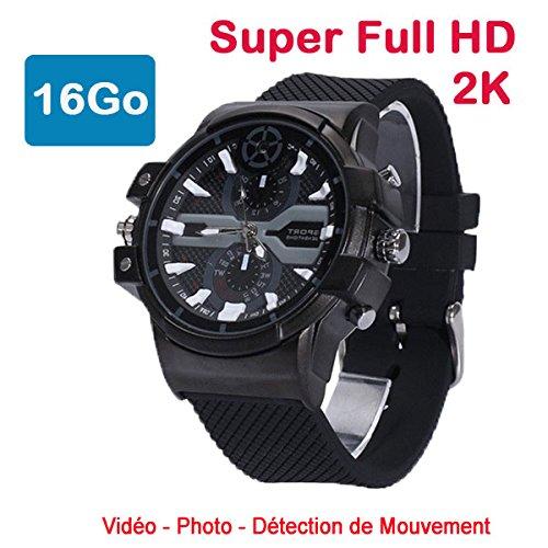Cyber Express Electronics uhr Mini Kamera Spion 2 K Super Full HD 2304 x 1296P Bewegungserkennung cel-dwf-7416