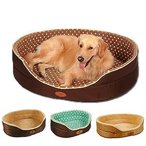 Double Face Disponible toutes les saisons Grand lit pour chien–Taille XL Maison Canapé chenil doux en polaire pour chien ou chat Chaud Lit S-XL