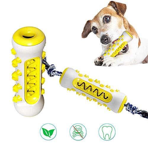 PETTOM Hundespielzeug Zahnpflege Zahnreinigung (Gelb)