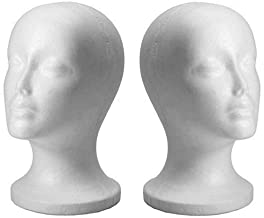 Female Mannequin Wig Glasses Hat Display Stand Popular Foam Head Model Storage Holders White Wig Stands 1Pc