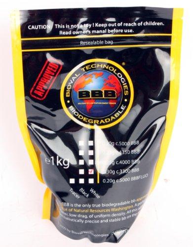 Bioval .30G 3300Ct 6Mm Bio BB's, Bag- White 6Mm BB's