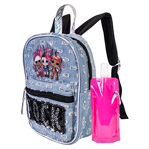 L.O.L. Surprise Mini Backpack Combo Set - Girls' 3 Piece Mini Backpack Set - L.O.L. Surprise Mini Backpack (Grey)