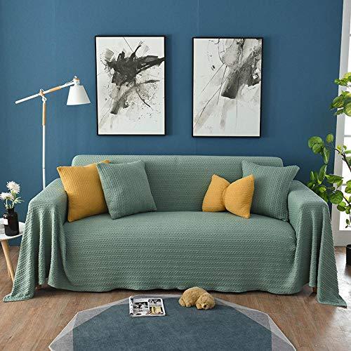 Fundas de Sofá Protector Antideslizante para Muebles, Funda de sofá universal de cubierta completa, manta de sofá de cubierta completa de toalla sofá, funda de tela para cojín de sofá-verde_1 asiento