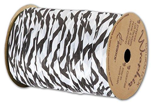 """Matte Wraphia Zebra Ribbon, 1/4"""" x 100 Yds (3/Pack) - BOWS-74900-ZE"""