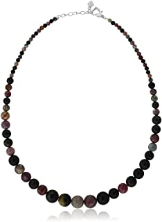 Gem Stone King 18 Inch Classic Tourmaline Women's Jewelry Necklace with Heart Clasp 18 Inch