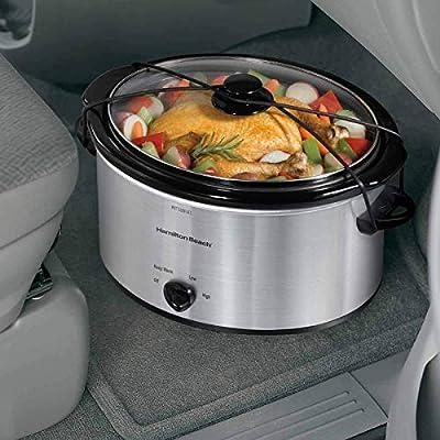 Hamilton Beach 5-Quart Portable Slow Cooker, Silver