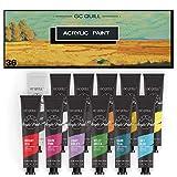 GC QUILL Juego de Pintura Acrílica 12 ml x 36 tubos para principiantes, estudiantes, adultos artista en madera, cerámica, tela, manualidades GC-AP36