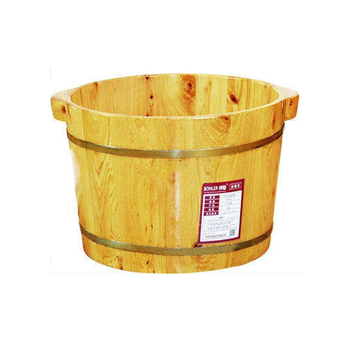 誰ふざけたチャレンジCHY ウッドフットソークバスタブ、 ペディキュアスパ盆地 フットバスバケットおよびソーカーボウル26cm 疲れて痛い足を浸す (Color : Wood color)