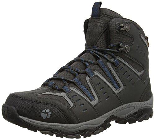 Jack Wolfskin Herren MTN STORM TEXAPORE MID M Trekking- & Wanderstiefel, Grau (moroccan blue 1800), 44.5 EU