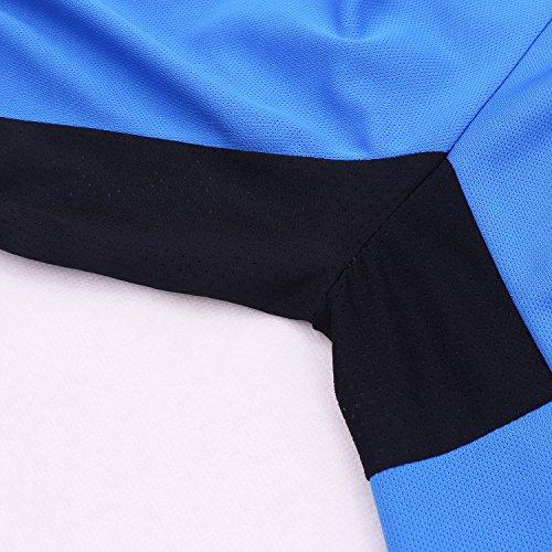 Arsuxeo Herren-Fahrradtrikot, enge Passform, Kurzarm, Fahrrad, MTB-Shirt, Herren, blau, US S - 7