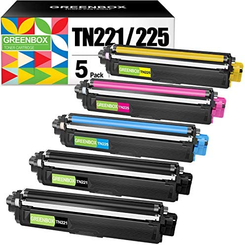 GREENBOX Compatible Toner Cartridge Replacement for Brother TN221 TN225 TN 221 TN 225 for Brother product image