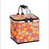 LHQ-HQ. Picnic Basket Shopping Isolamento di Consegna Portatile Tabella di Piegatura Arancione 28 x 28 x 24 Centimetri