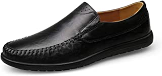 Ranipobo Men's Fashion Driving Loafers Casual Simple Low Top Slip for Men (Color : Darkbrown, Size : 8 UK)