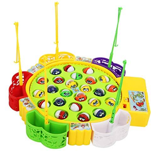 Homyl Elektrisches Musikspielzeug Angelspiel Angeln Spielzeug Kinderspiel mit Magnet Fische Spielzeug für Kinder Rollenspiel Spielen Spaß - # B