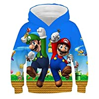 3-14 Years Kids Hoodie Game Super Mario Bros 3D Printed Hoodies Boys Girls Outerwear Jacket Coat Children Clothing