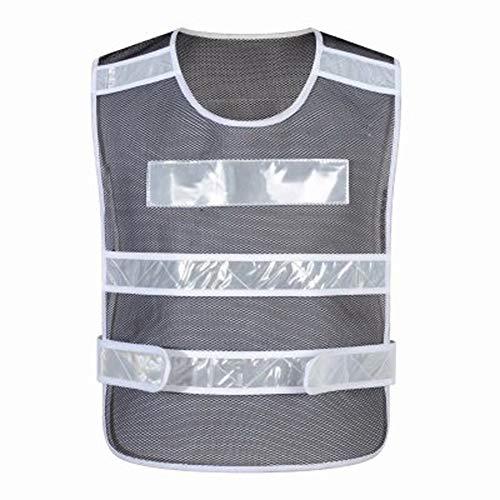 DNSJB Reflektierende Outdoor-Aktivitäten bei hoher Sichtbarkeit oder Kleidung für Bauarbeiter (Color : Black)