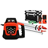 FORAVER Green Rotary Laser Level Self Leveling Measuring Automatic with Receiver Remote Control