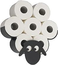 DanDiBo Toiletpapierhouder schaap muur zwart metalen toiletrolhouder wc-rolhouder reserverolhouder wc-rolhouder wc-rolhoud...