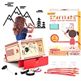 kipod Toys GrafiTape Drawing Projector for Kids to Create Wall Art - Unique Arts and Crafts Kit W/ Projector, Flashlight, 5 Washi Tape Rolls, Drawing Pad  Award-Winning Gift - Girls & Boys Ages 5-99