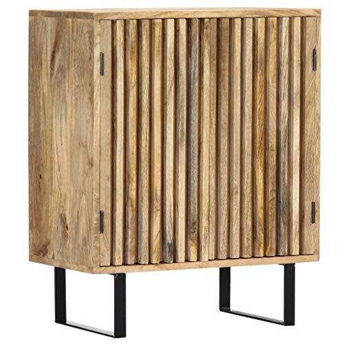 Festnight Sideboard | Industrial Kommode | Retro Beistellschrank | mit 2 Türen | 60 x 35 x 75 cm Mango-Massivholz
