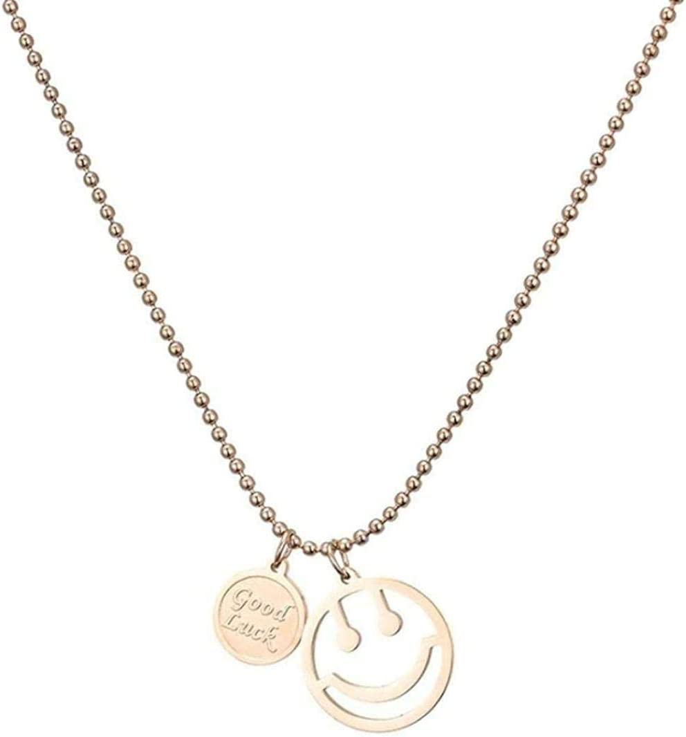 NC83 At the price Stainless Spring new work Steel Necklace for Women S Pendant Fashion Simple