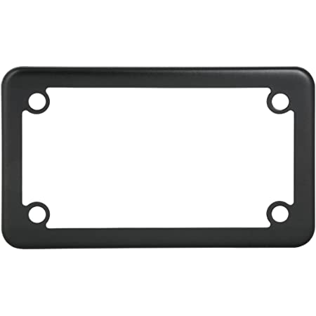 GG Grand General 60394 Matte Black Powder Coated Motorcycle Plain License Plate Frame