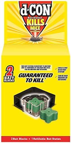 d CON Corner Fit Mouse Poison Bait Station 1 Trap 2 Bait Refills product image