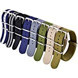Ritche 22mm NATO Straps Nylon Watch Bands Compatible with Seiko Watch for Men Women