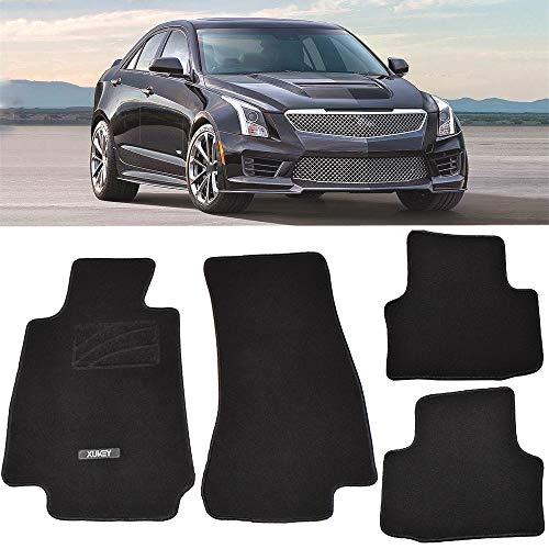 AUTOXBERT Car Floor Mat Carpet for Cadillac ATS ATS-V 2013-2019 LHD Custom Fit Mats Front Rear Auto Liner Pad 2014 2015 2016 2017 2018
