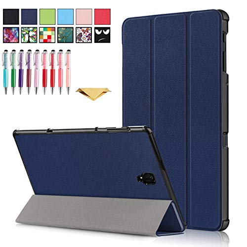 QYiD Galaxy Tab A 10.5 2018 Case SM-T590, Slim Tri-Fold PU Leather Cover Case with Auto Sleep/Wake Feature for Samsung Galaxy Tab A 10.5 inch SM-T590/T595/T597, Blue
