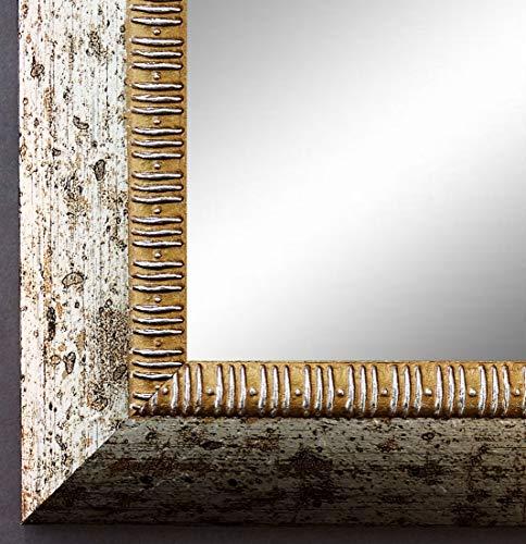 Online Galerie Bingold Spiegel Wandspiegel Badspiegel Flurspiegel Garderobenspiegel - Über 200 Größen - Turin Silber 4,0 - Außenmaß des Spiegels 60 x 110 - Wunschmaße auf Anfrage - Antik, Barock