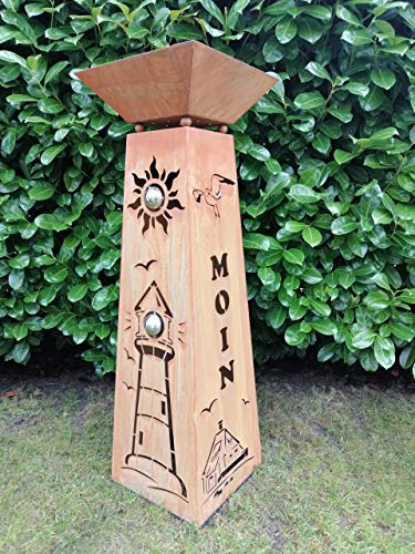 Gartendeko Fockbek Säule und Schale