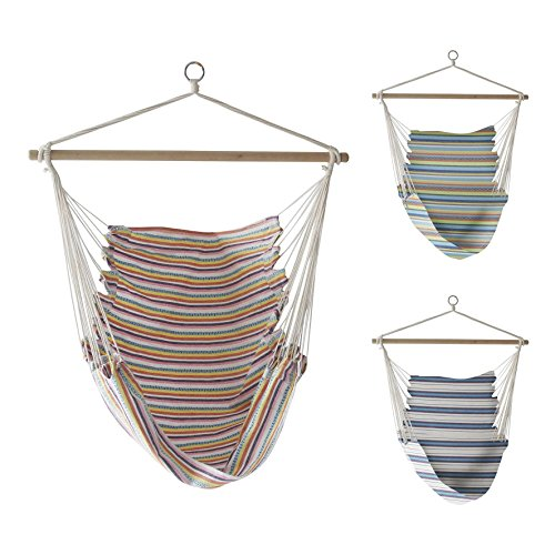 The Magic Toy Shop Hanging Hammock Chair Portable Garden Swing Seat Tree Travel Camping Poly - Cotton