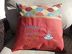 gifts for book lovers that aren't books ~ reading pillow