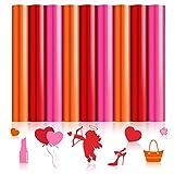 9 Hojas de Vinilos de Plancha de San Valentín Vinilos de Transferencia de Calor Hojas de Vinilo HTV de 11,4 x 8,3 Pulgadas para San Valentín DIY Camisetas, Almohada y Otros Textiles