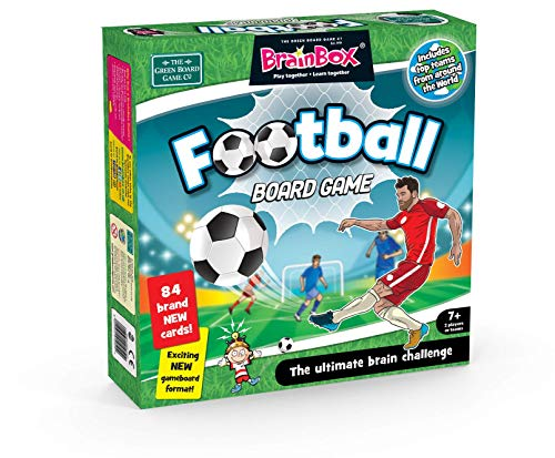 The Green Board Game Co. GRE91050 BrainBox Football Board Game, Mixed Colours