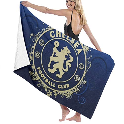 Custom made Toalla de baño de 5 estrellas con logo de Chelsea de calidad de hotel. Colección prémium. Suave, de felpa y altamente absorbente (1 toalla de baño de 70 x 140 cm)